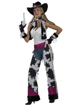 Glamour Cowgirl Costume For Adults