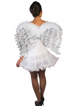 White Feather Angel Wings with Glitter