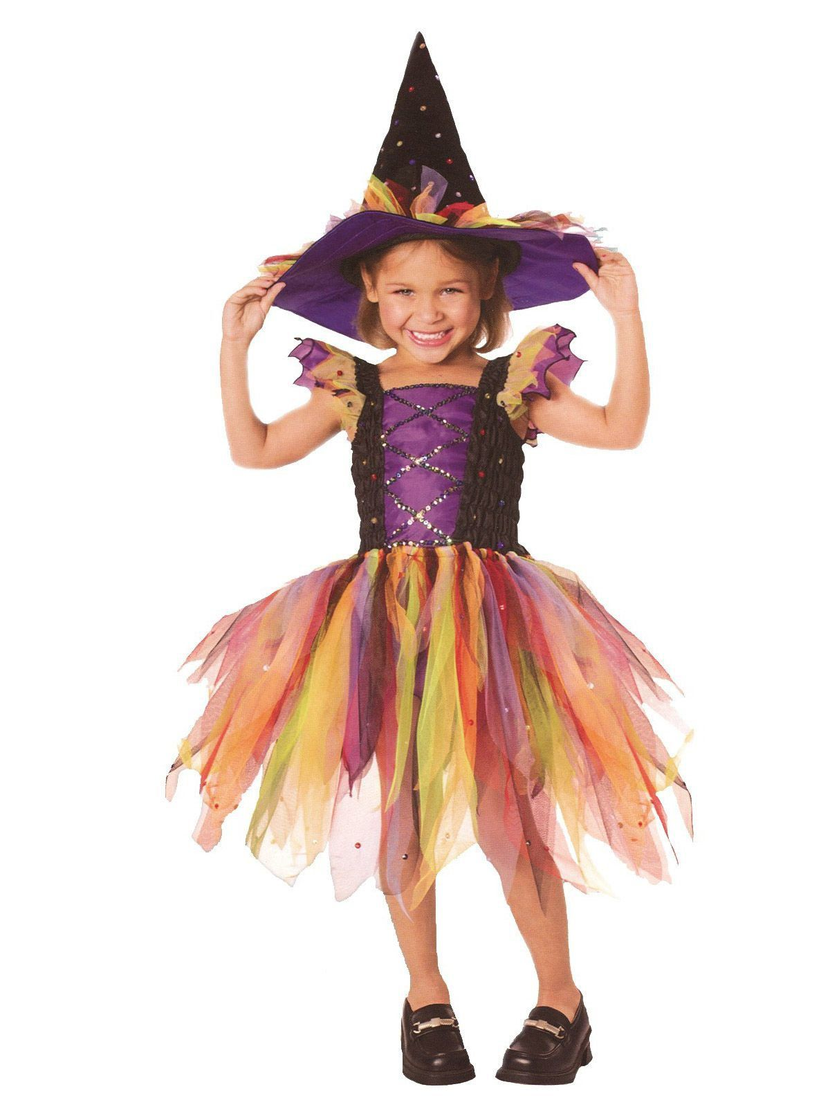 Glitter Witch Kids Costume - Wholesale Witch Girls Costumes
