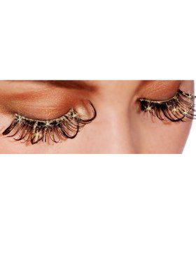 Glittering Golden Eyelashes