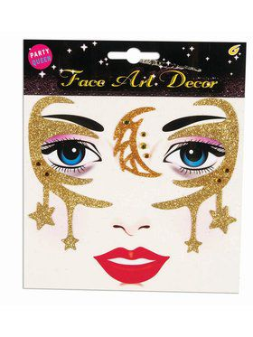 Gold Accessory Face Stickers