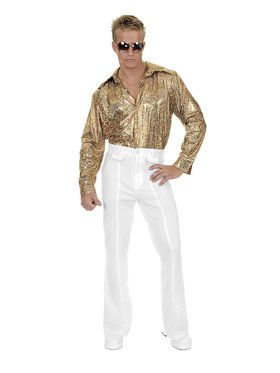Gold Glitter Disco Shirt Adult