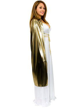 "Gold Lame Cape 44"" Women's Costume"
