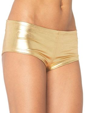 Gold Lame Sexy Women's Booty Shorts