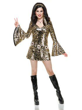 Women's Gold Leopard Disco Diva Costume
