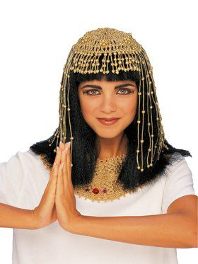 Gold Mesh Egyptian Queen Headpiece