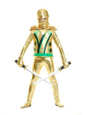Gold Ninja Avenger Series III With Armor Boy's Costume