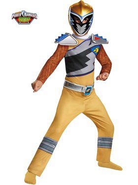 Gold Ranger Dino Charge Classic Boy's Costume