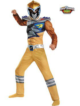 Gold Ranger Dino Charge Classic Muscle Boy's Costume