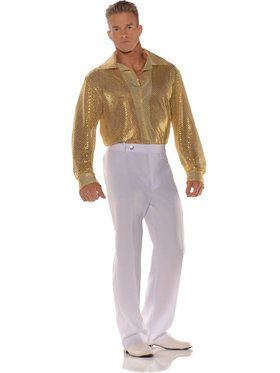 Gold Sequin Shirt Men's Costume