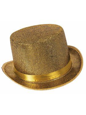 Mens Golden Top Hat