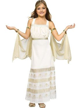 Golden Goddess Girl's Costume