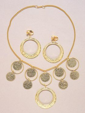 Goldstone Necklace & Earrings Set