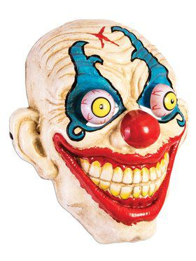 Google Eyes Smiling Clown Mask for Adults