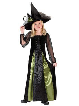 Goth Maiden Witch Child Costume