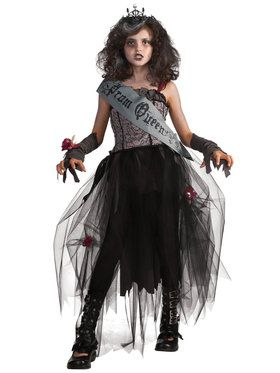Goth Prom Queen Costume For Children