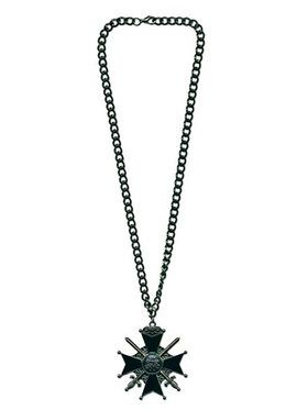 Gothic Cross with Swords Necklace
