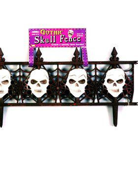 Gothic Skull 4-foot Black Fence