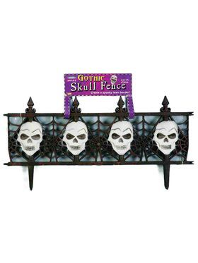 Gothic Skull Fencing Decoration