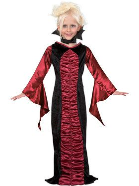 Gothic Vampire Costume For Children