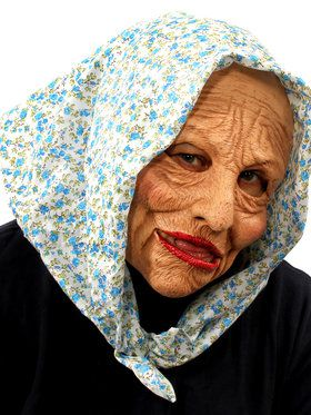 Grand Ma Mask w/ Head Scarf