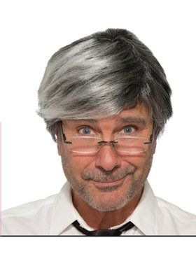 Mens Grey Hair Wig