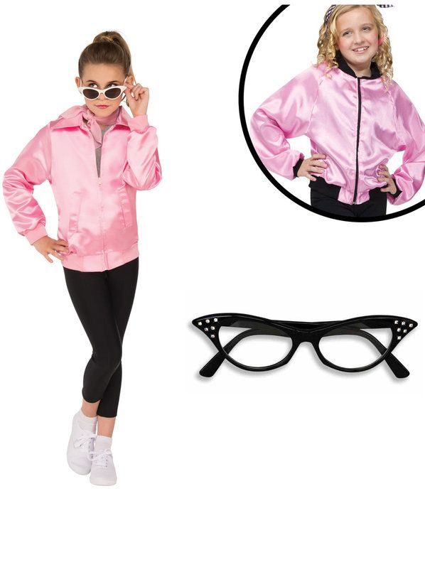 Grease Costume Kit for Girls for Halloween  sc 1 st  Wholesale Halloween Costumes : grease kids costumes  - Germanpascual.Com