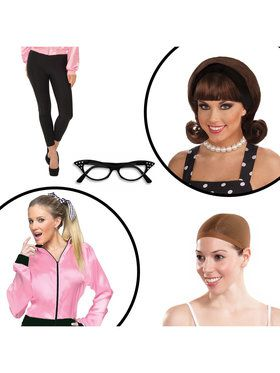 Grease Womens Adult Costume Kit for Halloween