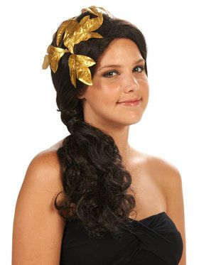 Greek Goddess Adult Wig with Gold PIece