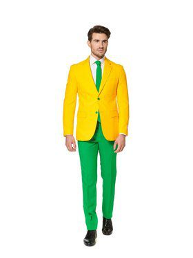 Green and Gold Mens Opposuit for Halloween