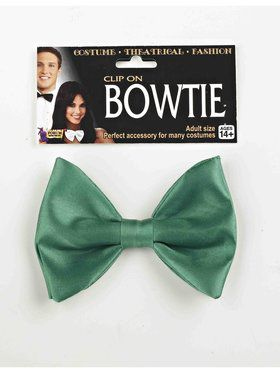 Clip On Green Bow Tie