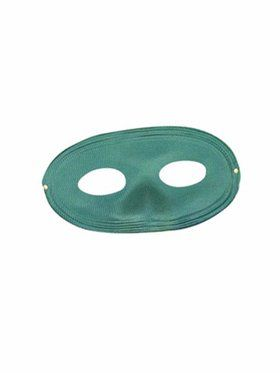 Green Domino Mask Adult