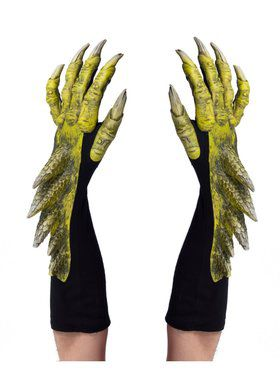 Green Dragon Adult Gloves
