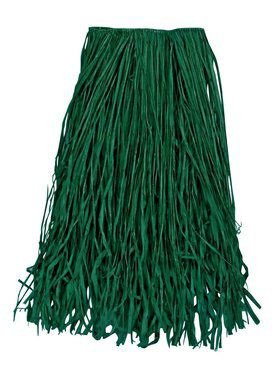 Green Raffia Grass Skirt Adult