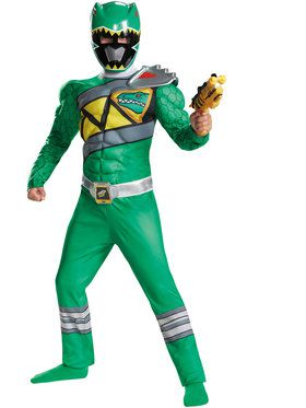Green Ranger Dino Charge Classic Muscle Boy's Costume
