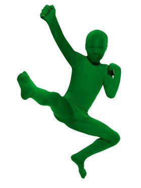 Green Skin Suit Costume For Children