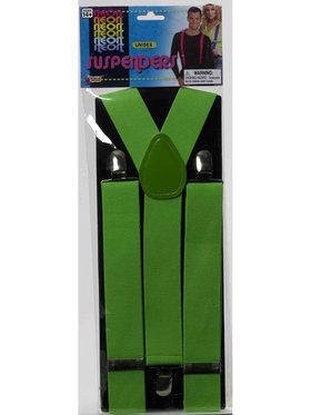 Adult Green Suspenders Accessory