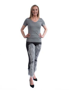 Cute Gray Fuzzy Leggings