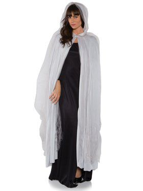 Grey Full Ghost Cape Adult Costume