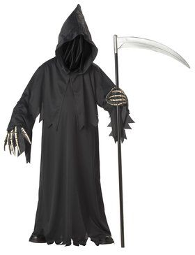 Grim Reaper Deluxe with Vinyl Hands Costume For Children