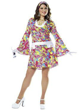 Groovy Chic Adult Plus Costume