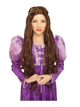 Guinevere Brown Wig Adult