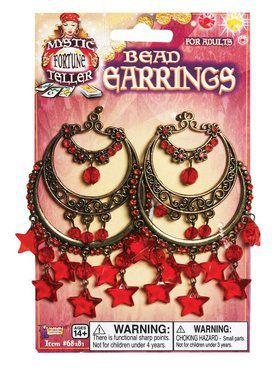Gypsy Chandelier Red Star Accessory Earrings
