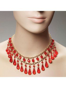 Gypsy Red Ball Accessory Necklace