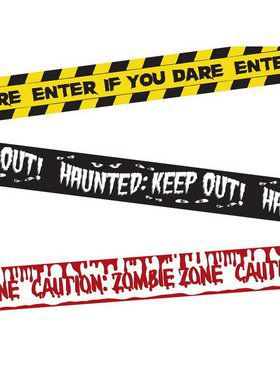 Halloween Fright Tape Banners - 30' each