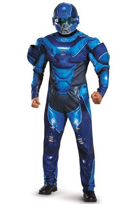 Halo Blue Spartan Muscle Adult Costume