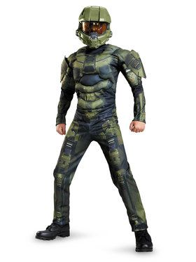 Halo Master Chief Classic Muscle Chest Boy's Costume