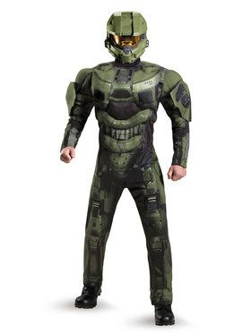 Halo Master Chief Deluxe Muscle Mens Costume