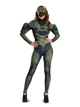 Halo Master Chief Womenu0027s Deluxe Adult Costume  sc 1 st  Wholesale Halloween Costumes & Cosplay u0026 Anime Halloween Costumes at Bargain Wholesale Prices for ...