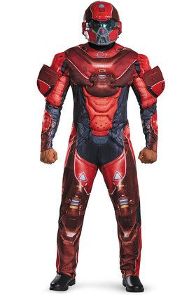 Halo Red Spartan Muscle Adult Costume